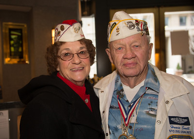 Lou Large -  president of the Sons and Daughters of Pearl Harbor Survivors  STC (SS) Howard Snell USN (Ret) was stationed at Submarine Base, Pearl Harbor. He was also a veteran of the Battle of Midway.