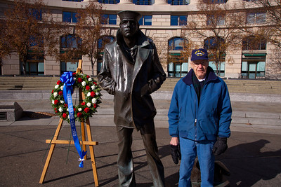 90-year-old Freeman Johnson was a boilerman on the U.S.S. St. Louis, which successfully steamed out of Pearl Harbor during the attack.