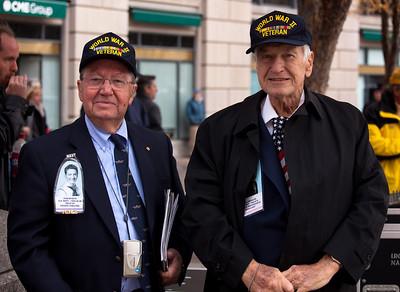 WWII Veterans Don Mason and William Kalwa