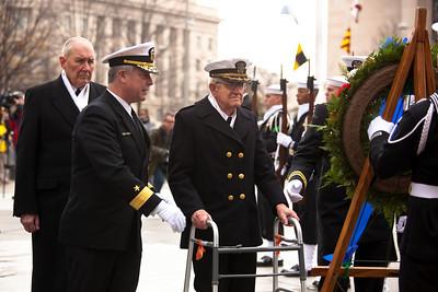 "Rear Admiral Edward K. ""Ted"" Walker Jr., SC, USN (Ret), Rear Admiral Patrick J. Lorge and Commander John Budzik, USNR (Ret)"