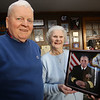 Arthur and Patricia Brown of Lowell, who have three sons and three grandsons in the Navy. Their son Richard, in picture, is being promoted to vice admiral.  (SUN/Julia Malakie)