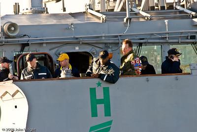 USS Cape St. George bridge