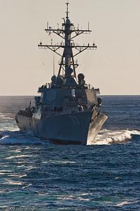 USS Decatur approaching