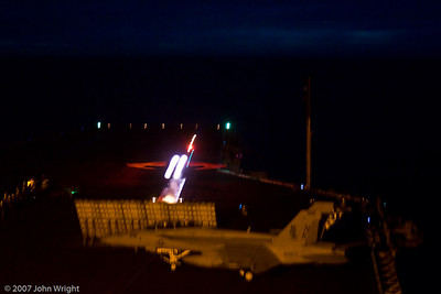 F/A-18 night launch