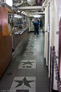 "The ""Walk Of Fame"" in the enlisted mess decks."