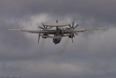 "E-2C ""Hawkeye"" climbing out"