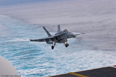 F/A-18C landing sequence