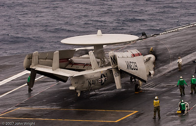 "E-2C ""Hawkeye"" waiting to launch"