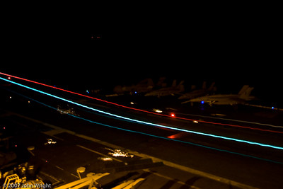 Night landing long exposure