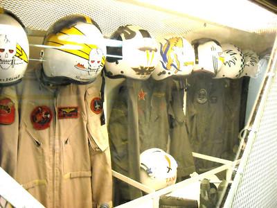 Display of Flight Suits & Helmets