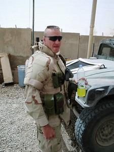 CPT Greg Hirschey, head of the 717th EOD Company, drinking his beloved Gatorade slushie.