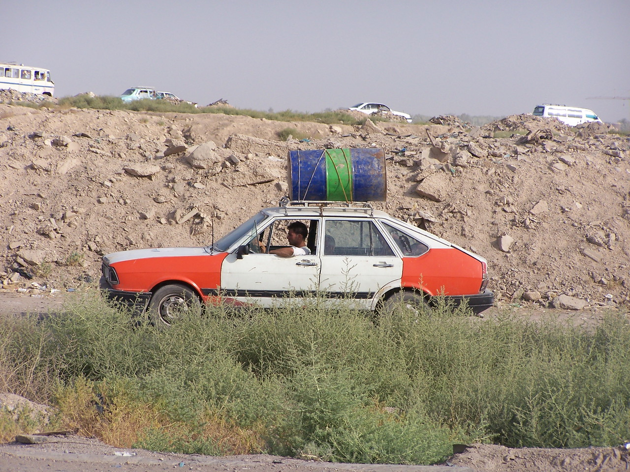 Lots of vehicles in Iraq look suspicious.  But few more than this one.