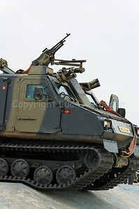 The Bandvagn BvS10 Viking in use by the Dutch Royal Marines during Operation Storm Tide in Ostend (Oostende), Belgium, a Field Training Exercise (FTX) with Belgian Paratroopers.