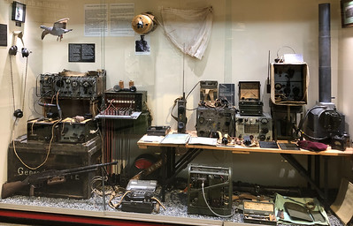 Display of a communications center. Carrier pigeons provided the first reports from the the D-Day landing forces