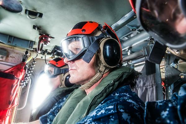 Senior Chief Durel Reelistment on CVN-77