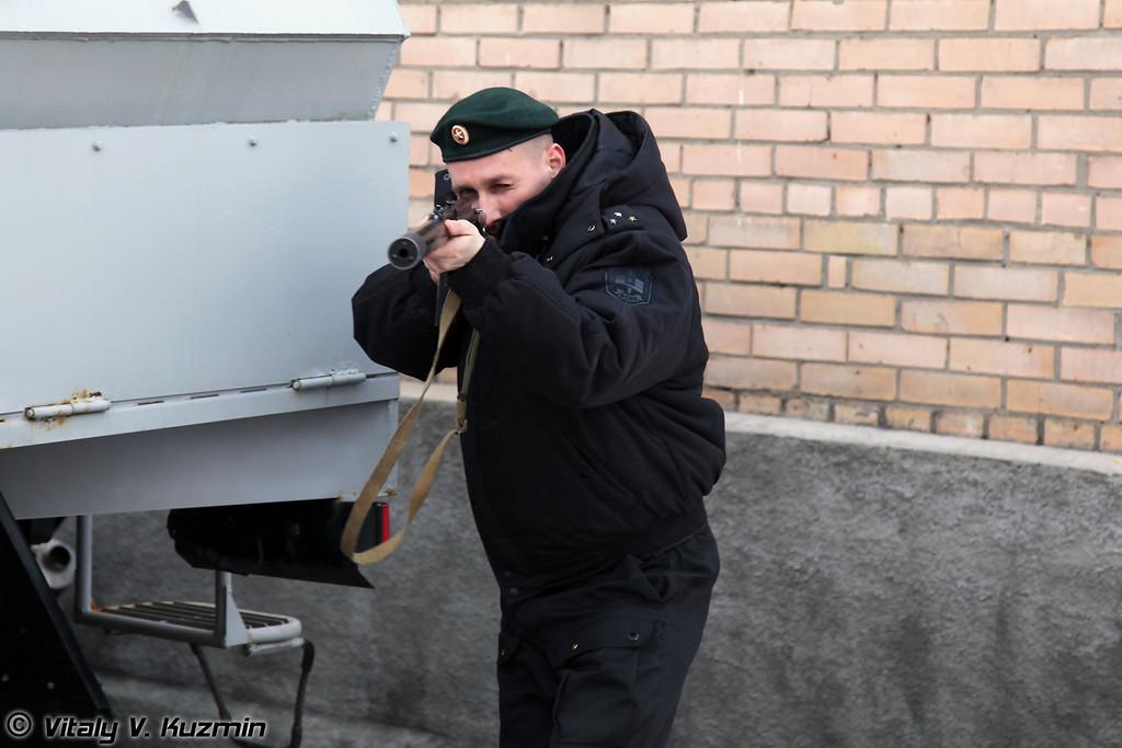 Сотрудник ОСН с автоматом 9А-91 (Saturn operator with 9A-91)