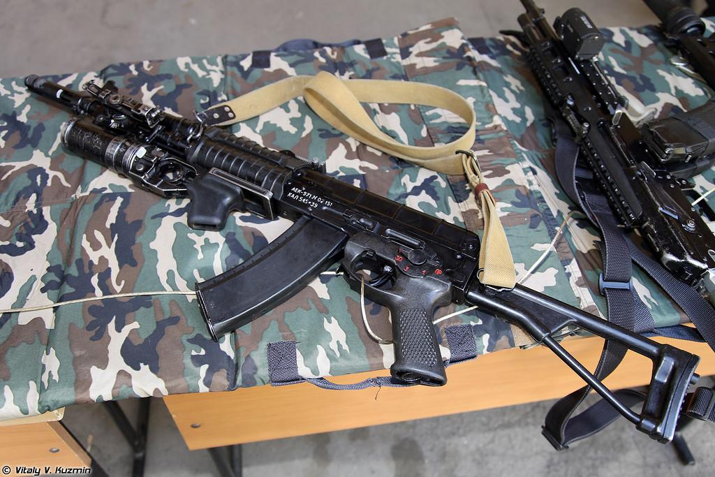 5.45х39 автомат АЕК-971 с подствольным гранатометом ГП-25 (5.45x39 assault rifle AEK-971 with GP-25)