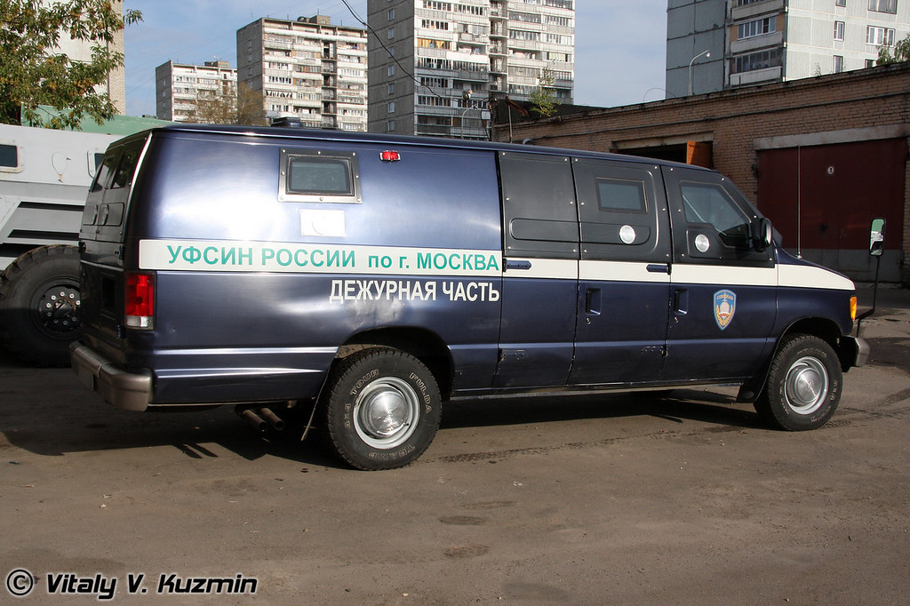 Ford E-series armored prisoners van