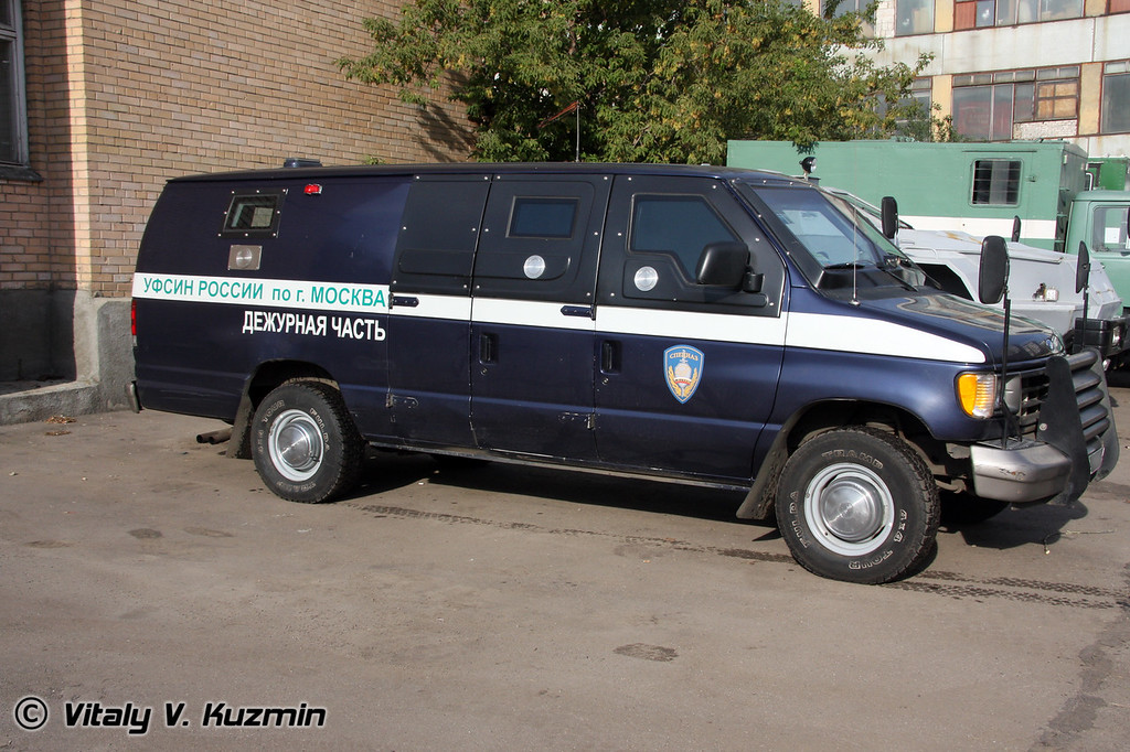 Ford E-series armored prisoners van