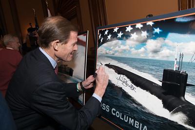 Richard Blumenthal , USS Columbia