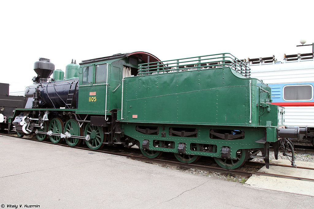 Грузовой паровоз Тк3-1105 (Tk3-1105 steam locomotive)