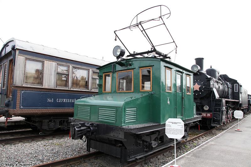 Электровоз промышленный двухосный (Electric locomotive)