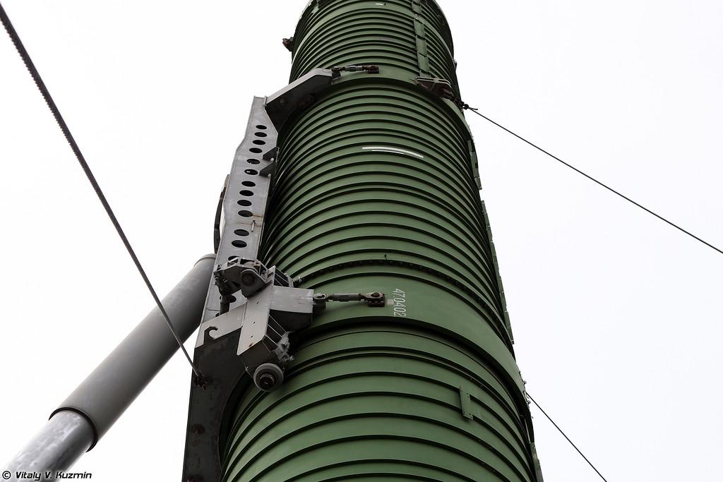 БЖРК 15П961 с МБР РТ-23 УТТХ Молодец - Вагон-пусковая установка   (Military railway missile complex 15P961 Molodets with RT-23 UTTKh ICBM - Launcher)