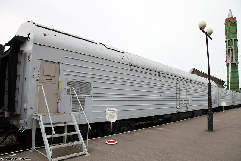 БЖРК 15П961 с МБР РТ-23 УТТХ Молодец - Вагон-командный пункт  (Military railway missile complex 15P961 Molodets with RT-23 UTTKh ICBM - Command post)