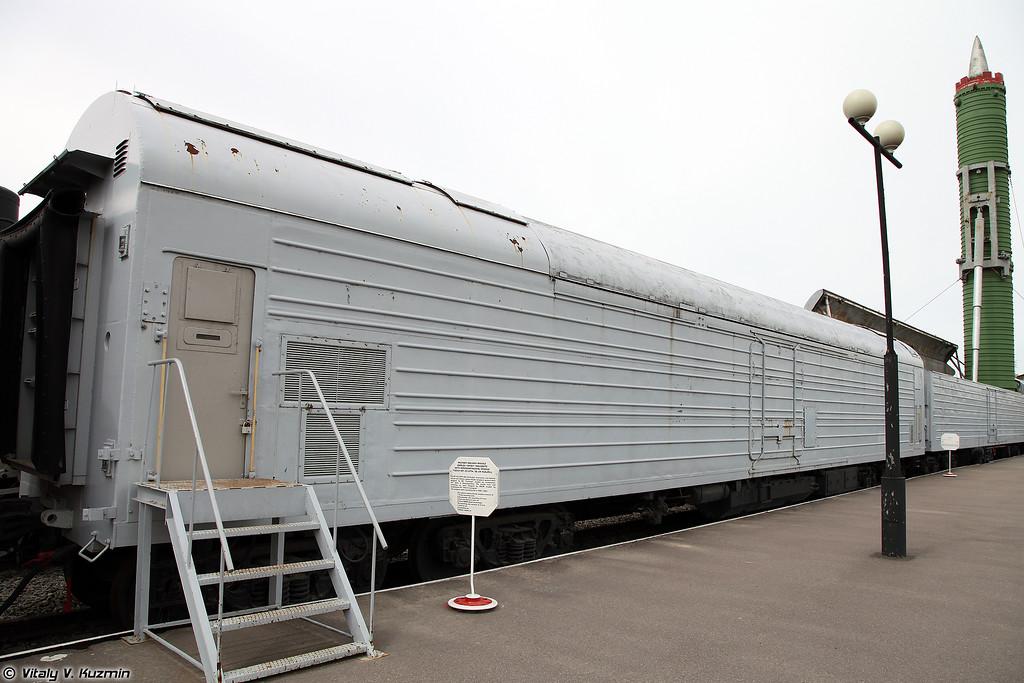 БЖРК 15П961 с МБР РТ-23 УТТХ Молодец - Вагон-командный пункт  (Military railway missile complex 15P961 Molodets with RT-23 UTTKh ICBM - Command post)