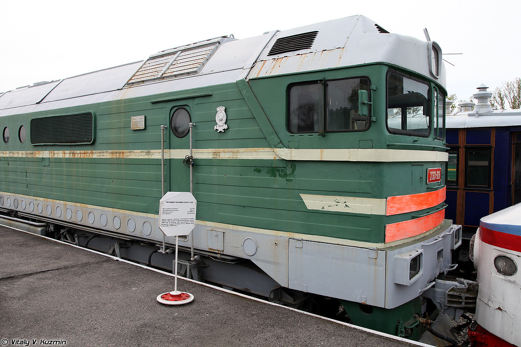 Грузовой тепловой 2ТЭ121-026 (2TE121-026 diesel locomotive)