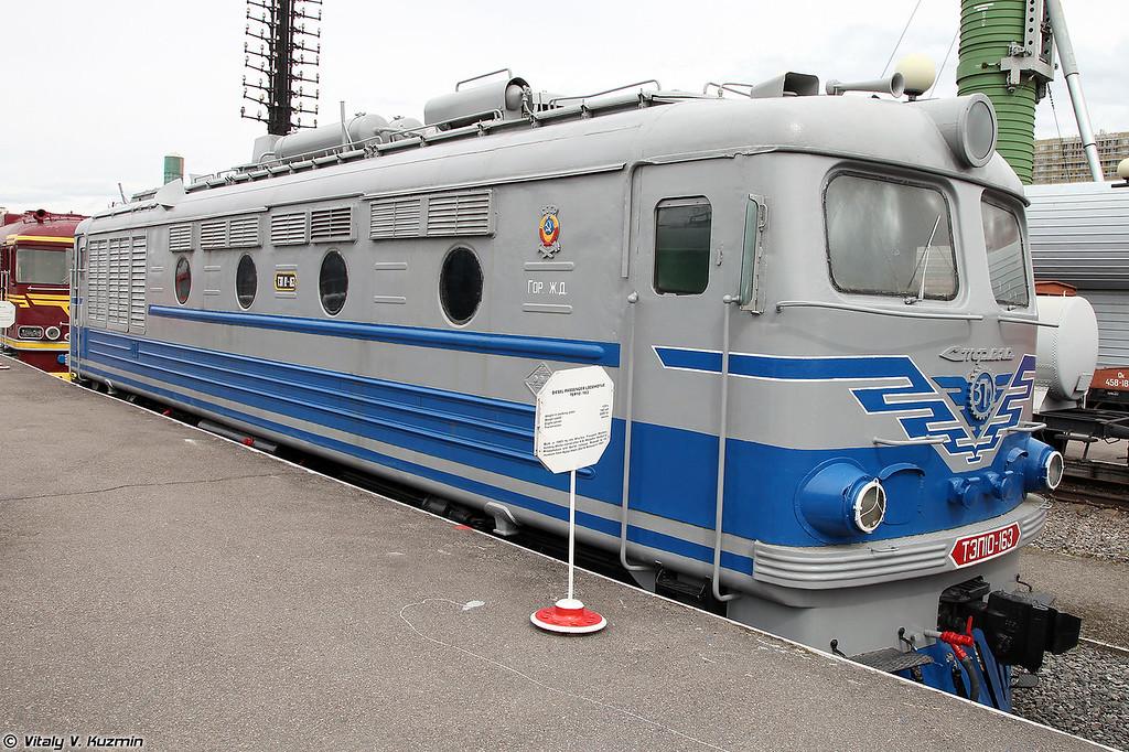 Пассажирский тепловоз ТЭП10-163 (TEP10-163 diesel locomotive)