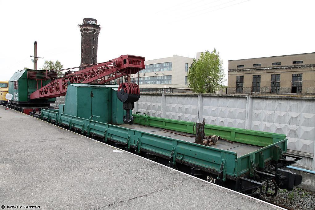 Железнодорожный кран ДЖ-45 №71 Январец (DZh-45 №71 Yanvarets railway crane)