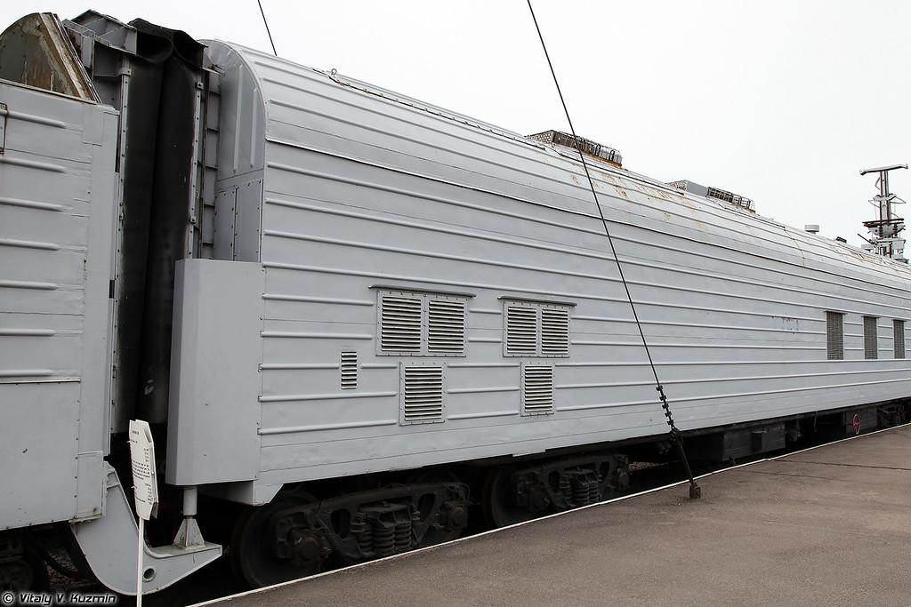 БЖРК 15П961 с МБР РТ-23 УТТХ Молодец - Агрегат обеспечения (Military railway missile complex 15P961 Molodets with RT-23 UTTKh ICBM - Support car)