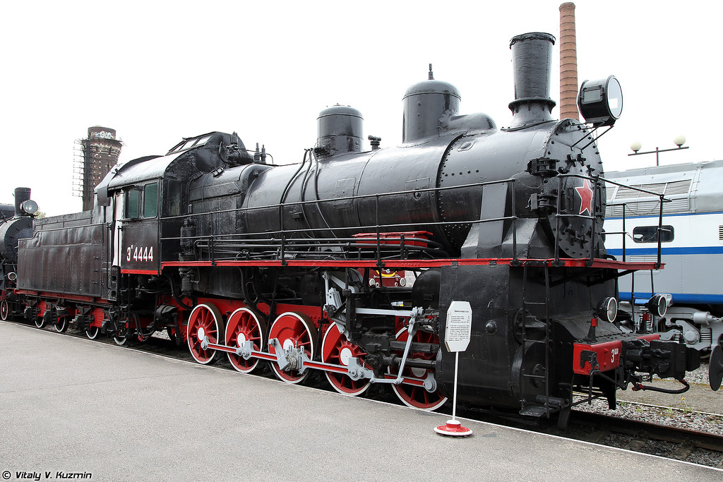 Товарный паровоз ЭШ 4444 (ESh 4444 steam locomotive)