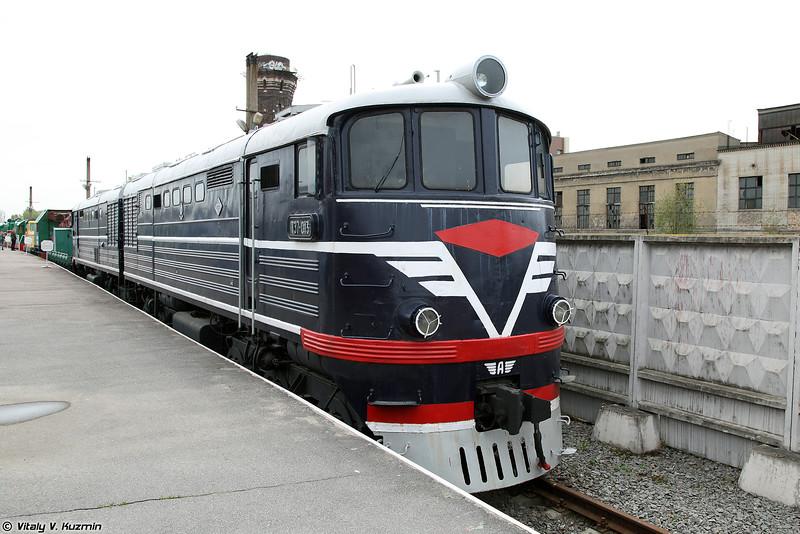 Пассажирский тепловоз ТЭ7-013 (TE7-013 diesel locomotive)
