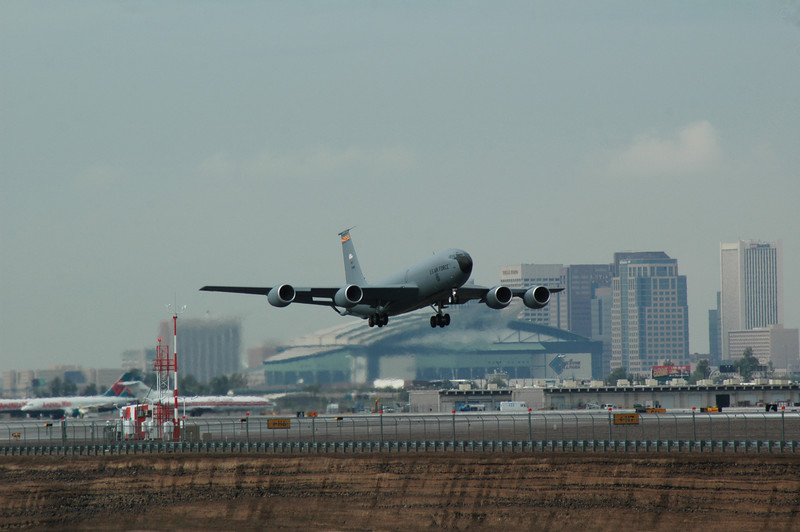 KC-135 taking off from Sky Harbor Airport, Phoenix