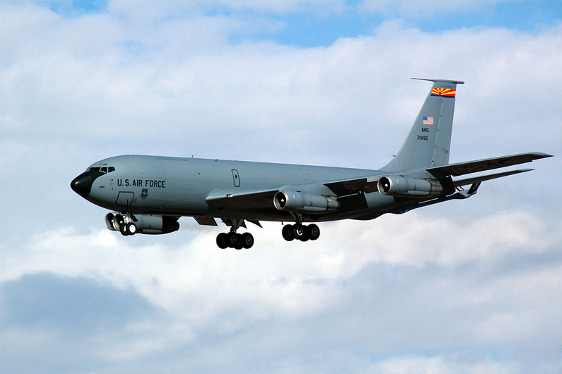 KC-135 landing at Sk Harbor Airport, Phoenix