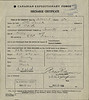 World War One service record of Otto Feick - discharge certificate - Canadian Forestry Corps - 1918 May 1 to 1919 May 31