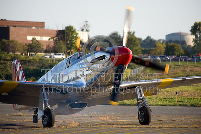 "TP-51C Mustang ""Betty Jane"" turning over"
