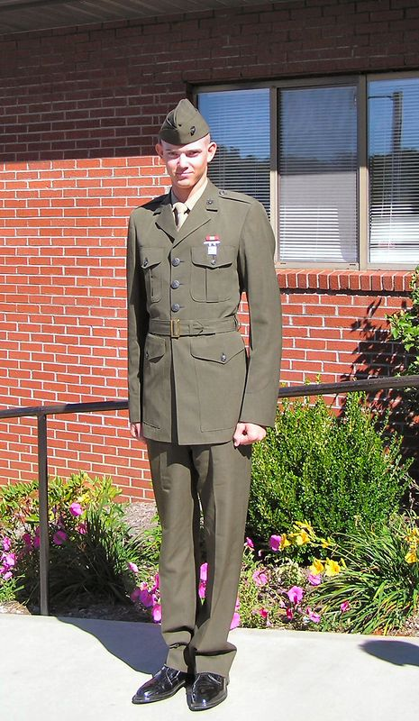 GREG, AFTER BASIC TRAINING.....LOOKING GOOD, GREG! PICTURE TAKEN ON OCTOBER 3rd, 2004