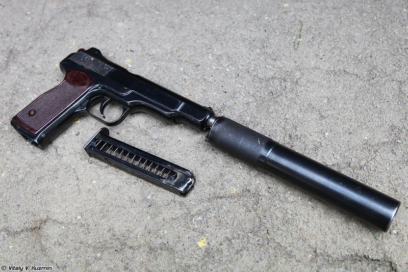 Автоматический пистолет бесшумный АПБ (Automatic silent pistol APB)