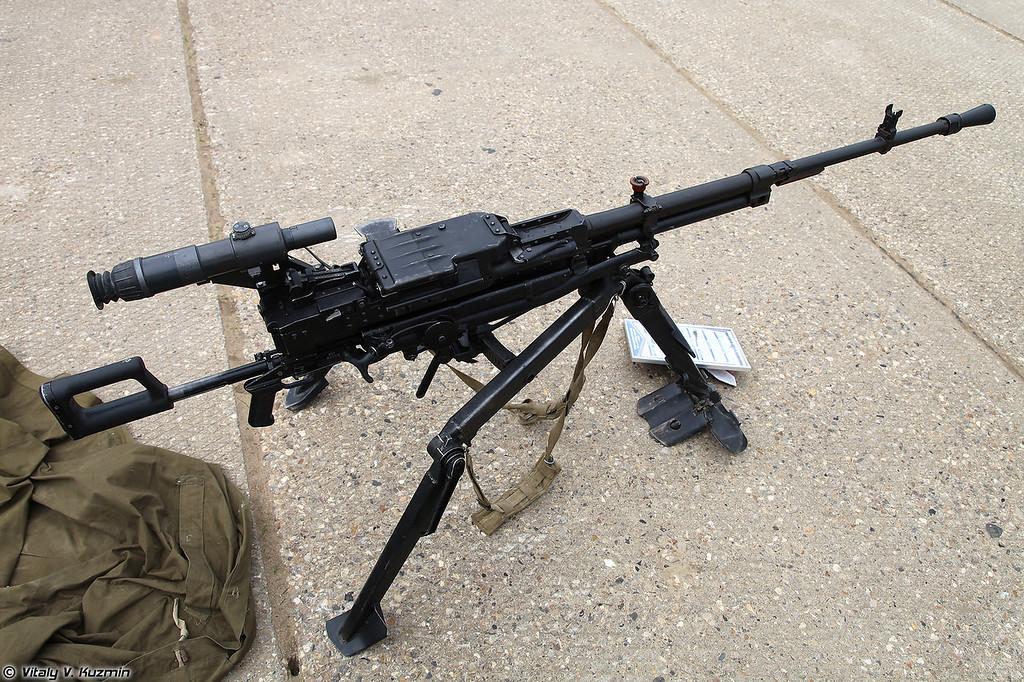 Крупнокалиберный пулемет НСВ-12,7 Утес на станке 6Т7 (NSV-12,7 Utes machine gun with 6T7 mount)