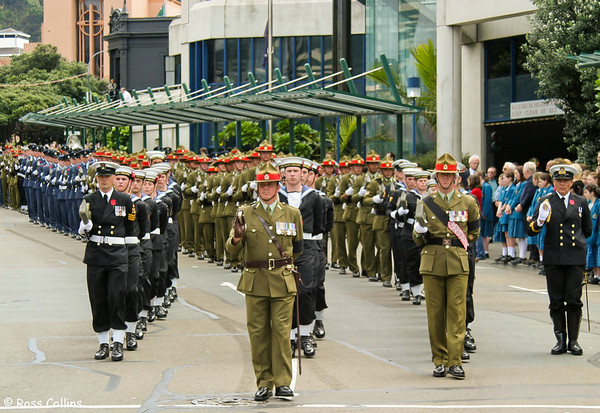 Parade for the Unknown Warrior, Wellington, 11 November 2004