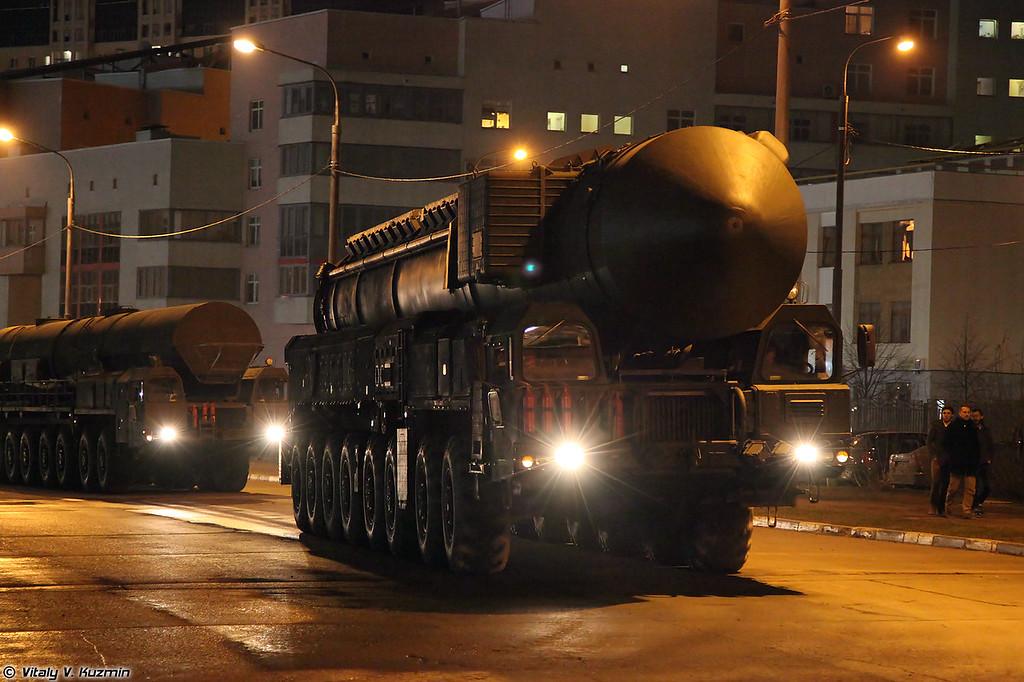 Пусковая установка ПГРК Ярс (Yars missile system TEL)