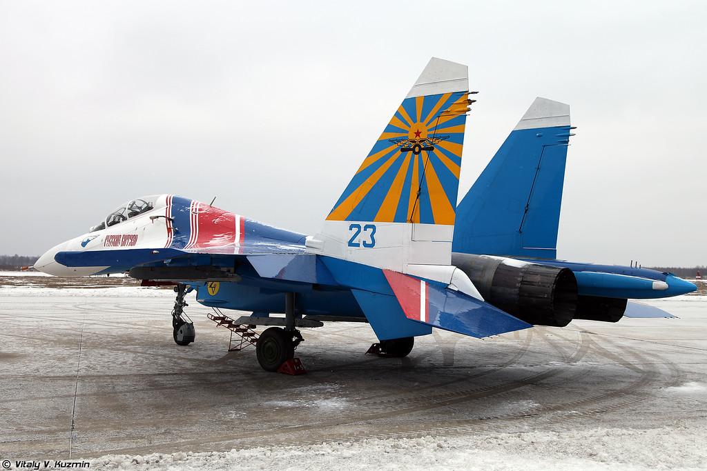 Су-27УБ АГВП Русские Витязи (Su-27UB Russian Knights aerobatics team)