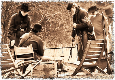 Fort Donelson re-enactment soldiers