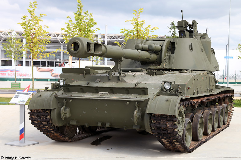 2С3 Акация (2S3 Akatsiya self-propelled artillery)
