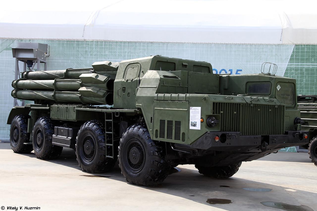 БМ 9А52-2 РСЗО 9К58 Смерч (9A52-2 launching vehicle of 9K58 Smerch MLRS)