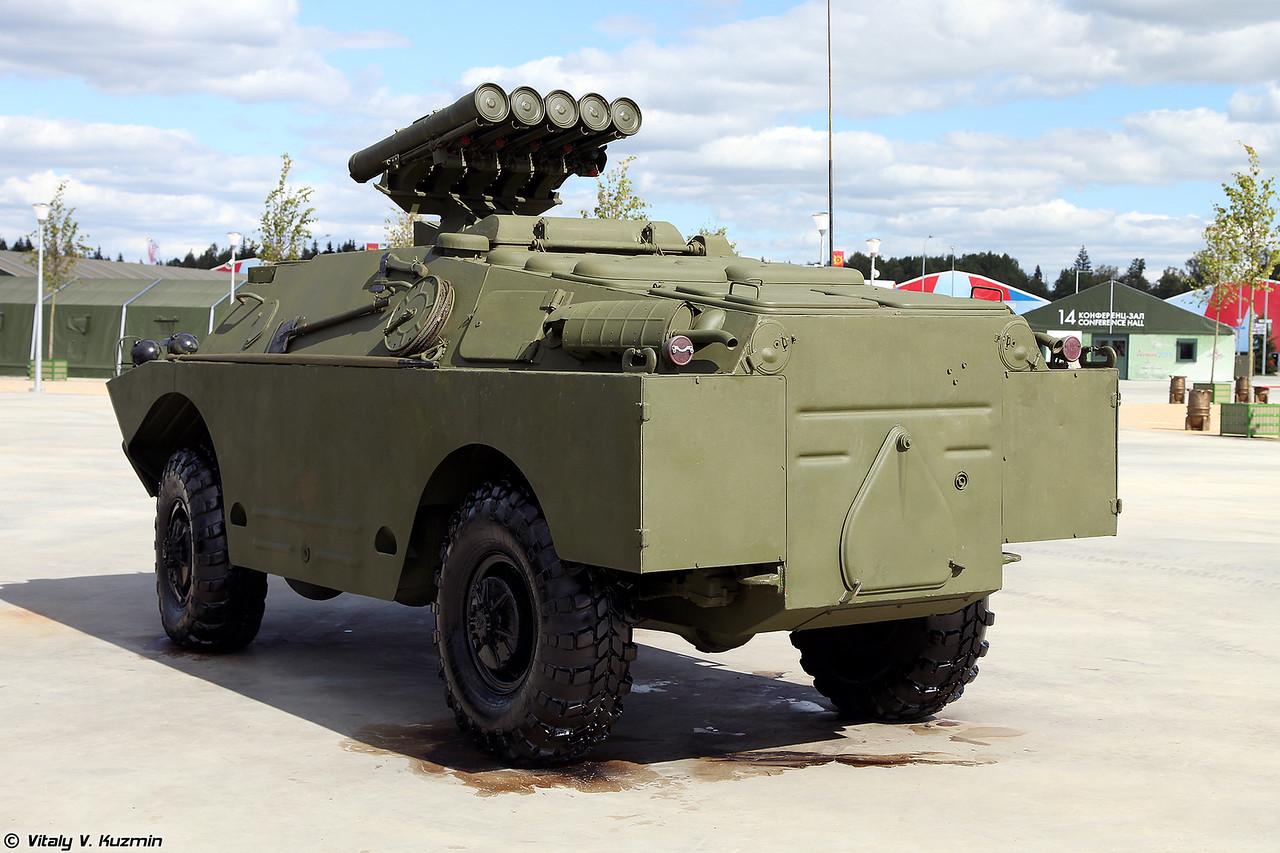 Боевая машина 9П148 самоходного противотанкового ракетного комплекса Конкурс (9P148 launching vehicle of Konkurs ATGM system)