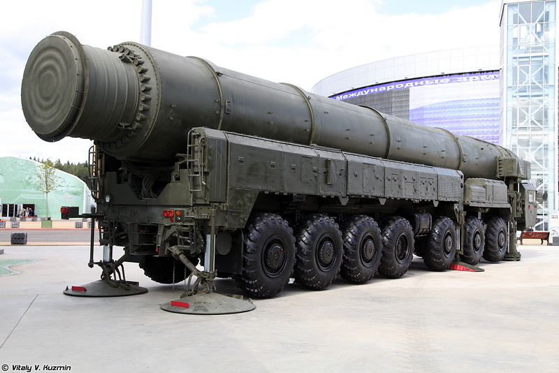 Автономная пусковая установка 15У168 ракетного комплекса 15П158 Тополь (15U168 TEL 15P158 Topol ICBM)